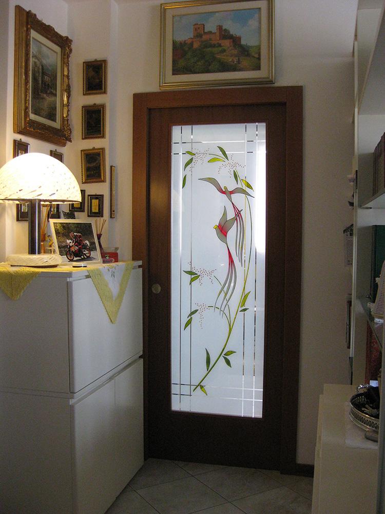 I nostri lavori base 2 serramenti - Porte con vetro decorato ...