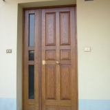 Porta blindata in rovere massello